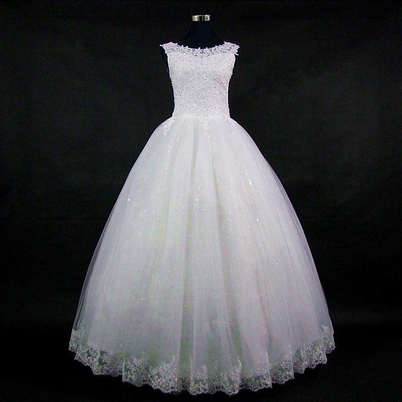 QQ Lover 2018 Naujas nėrinių atvirkštinio kelio suknelė vestuvių - Vestuvių suknelės