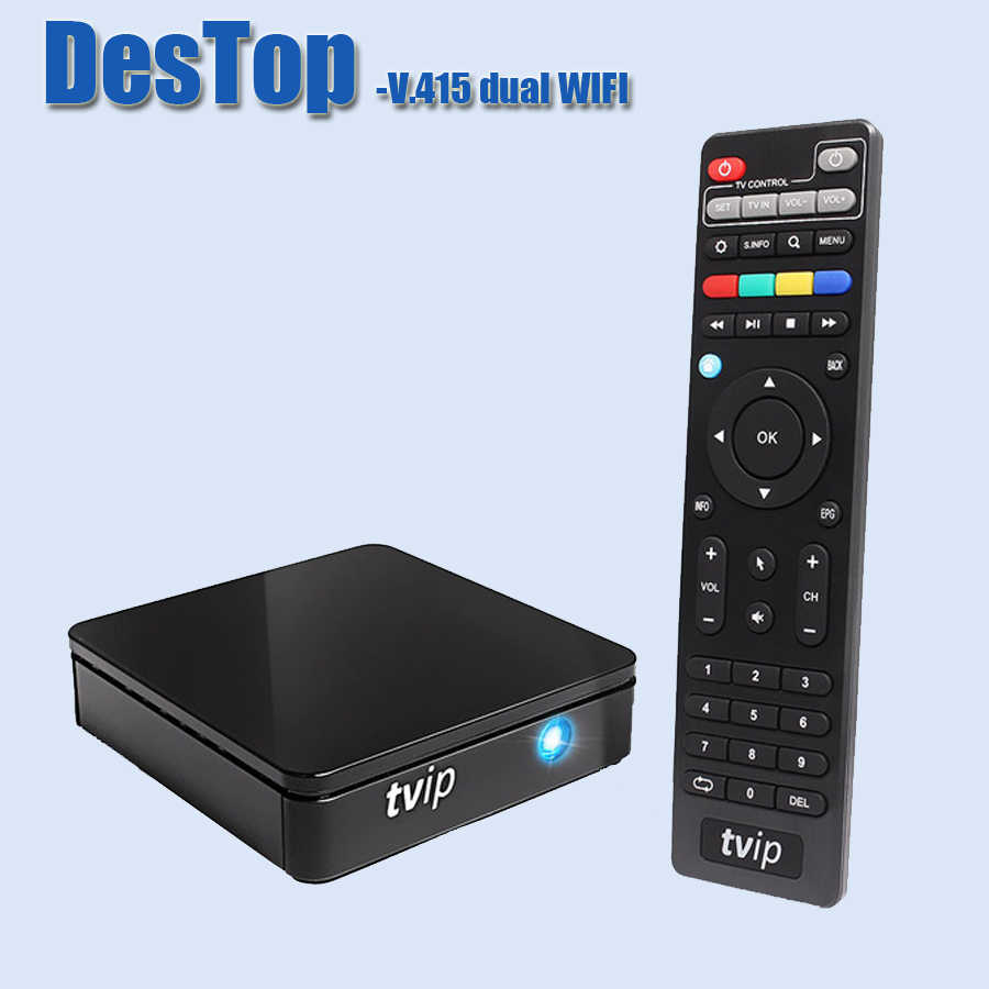 TVIP 415 Dual WiFi TV Box Amlogic Quad Core 2,4G 5G WIFI Android 4,4/Linux OS V.415