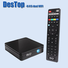 Boîtier TV double WiFi TVIP 415 Amlogic Quad Core 2.4G 5G WIFI Android 4.4/Linux OS V.415(China)