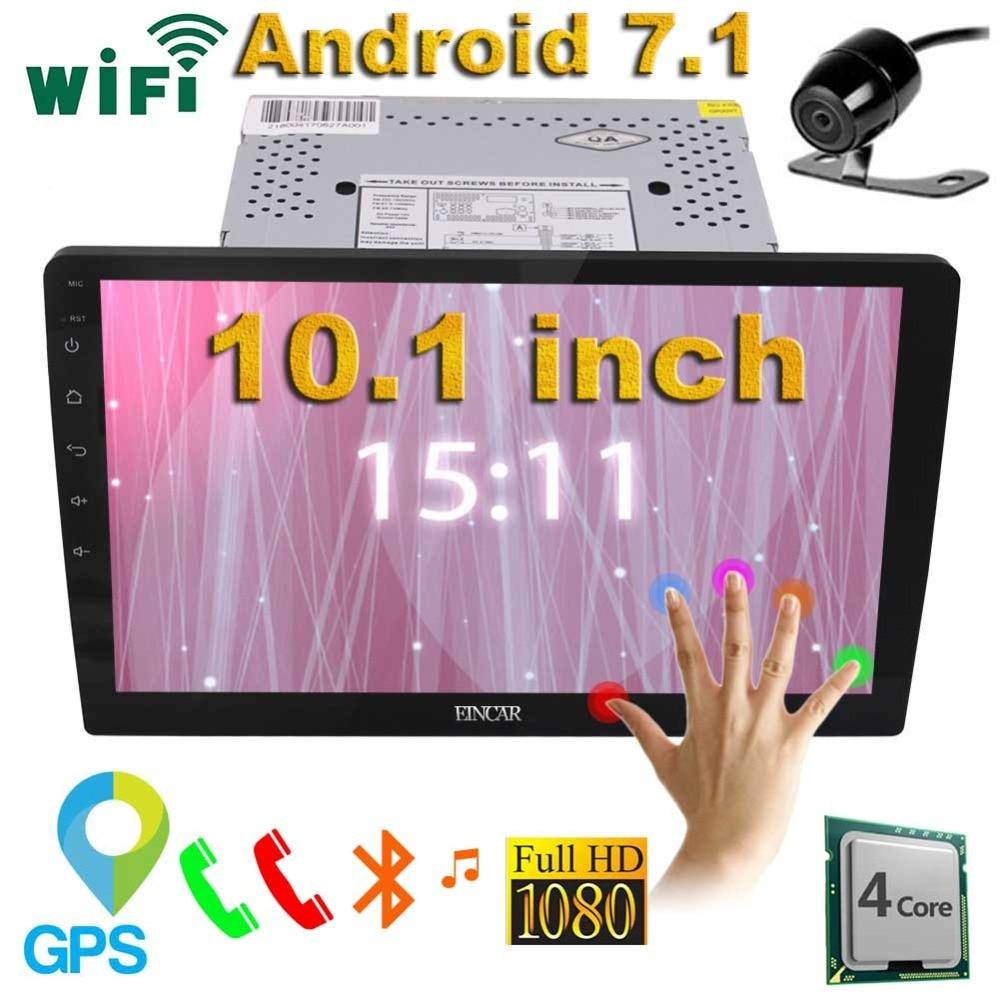 10.1 pouces écran tactile voiture stéréo Android 6.0 2 Din GPS Navigation voiture Radio récepteur Audio Support Bluetooth WiFi CAM-IN + caméra