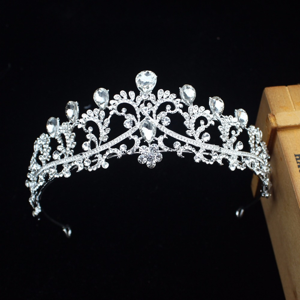 Luxurious Crystal Wedding Bridal Tiara Crown Bride Headpiece For Women Pageant Prom Royal Diadem Wedding Bridal Hair Jewelry