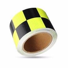 Прочный качество желтый и черный ПВХ светоотражающие Ленты Светоотражающие Предметы безопасности Сигнальная лента хорошо вязкой Водонепроницаемый длинные Услуги жизни
