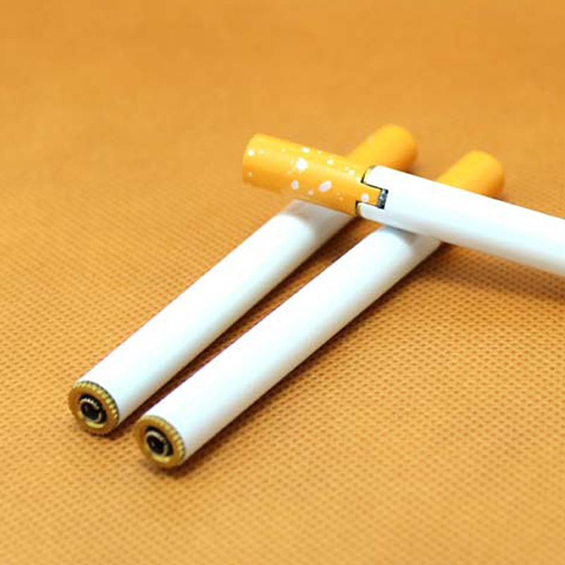 100pcs/lot Cigarette- shaped Butane Torch Lighter NO GAS cigarette butane gas metal...