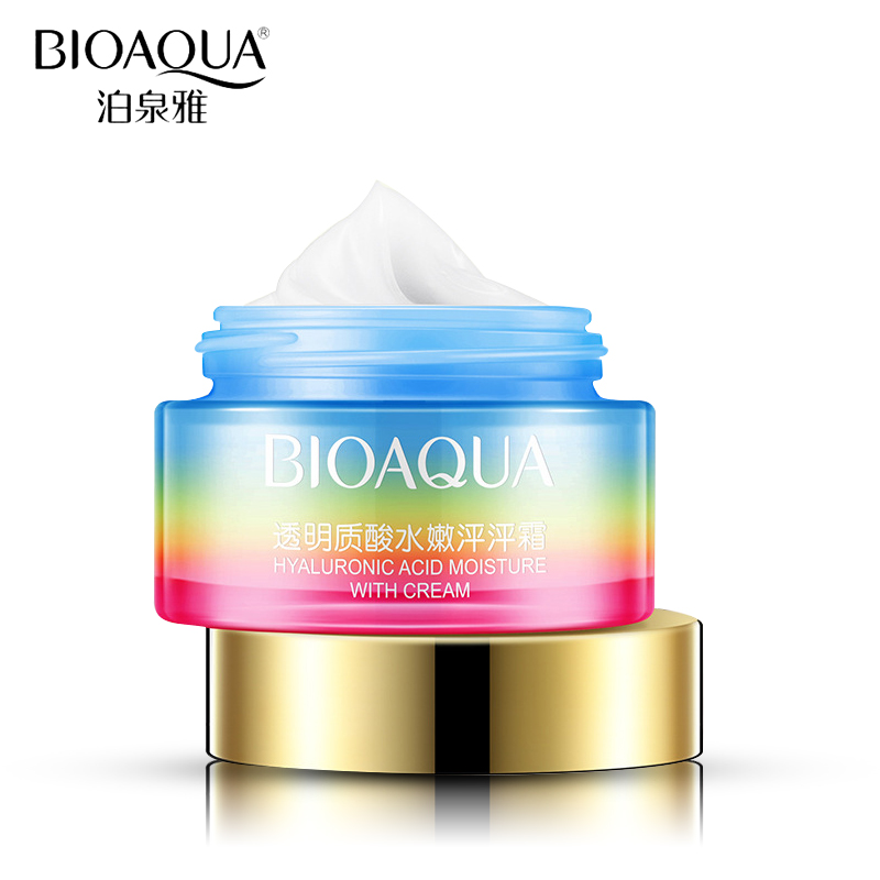 BIOAQUA Brand Hyaluronic Acid Face Cream Skin Care Ageless Anti Winkles Lift Firming Moisturizer Whitening Day Cream Facial Care elizavecca witch piggy hell pore control hyaluronic acid 97% moisturizing face cream skin care whitening ageless anti winkles