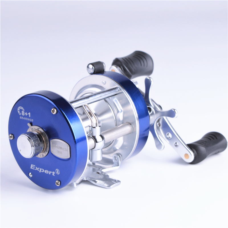 BF50 full metal cast drum wheel 8 + 1BB boat reels bait casting fishing reel Left / right hand trulinoya drum fishing reel left right hand 5 2 1 7 1bb baitcasting reels fishing reel boat wheel round baitcast vessels tr500