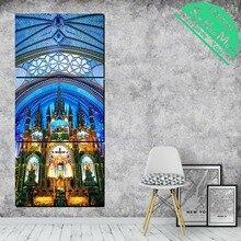 купить!  3 Шт. Церковь Современная Настенная Живопись Плакаты и Принты Картина Холст Картины Обрамленная