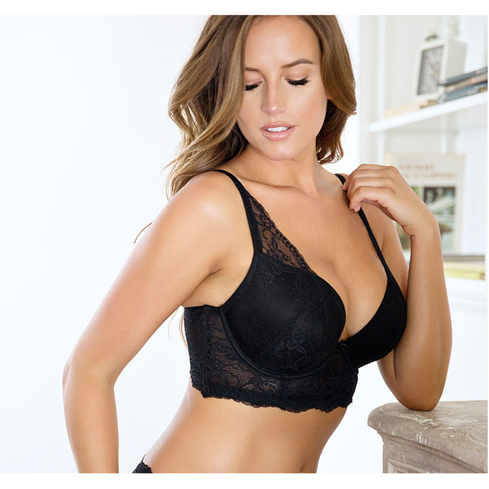 2f945965a24a4 2019 Women Big Breast Bra Sexy Lacy Women Bra 3 4 Cup Underwire Push ...