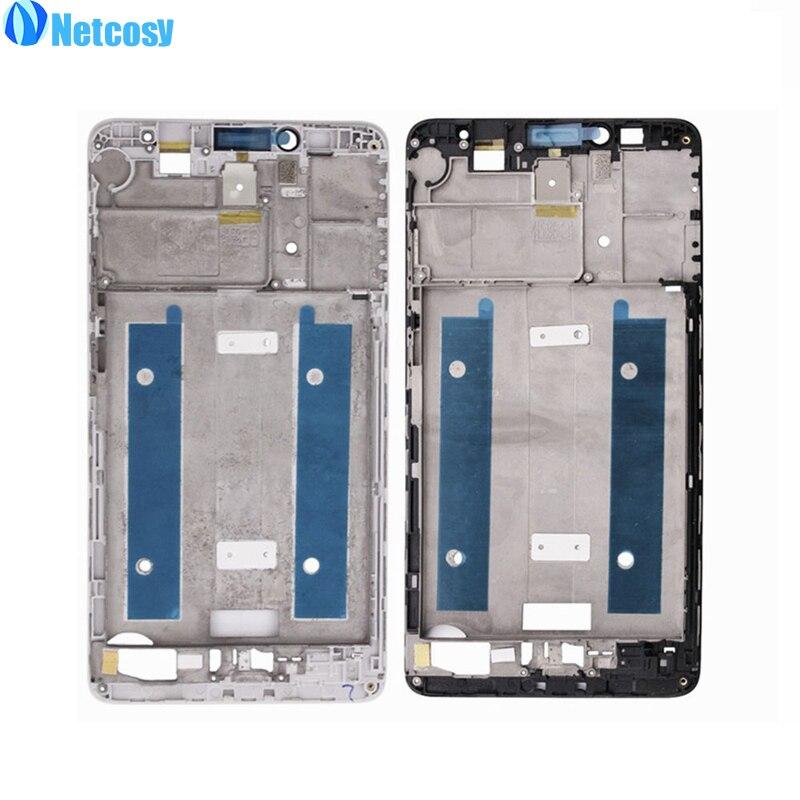 Cep telefonları ve Telekomünikasyon Ürünleri'ten Cep telefonu yuvası'de Netcosy Huawei Ascend mate 7 Için Siyah/Beyaz/Altın Konut Orta Çerçeve çerçeve orta el tutamağı kapağı yedek parça mate7 title=