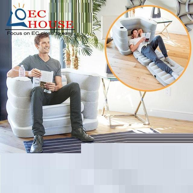 Reunindo cama inflável duplo couro sofá Mobiliário de Casa ao ar livre portátil FRETE GRÁTIS