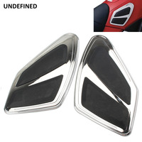 UNDEFINED Chrome Motorcycle Tank Traction Pad Decal Knee Grip Protector Stickers Moto For Honda Goldwing GL1800 FB6 2012 2017