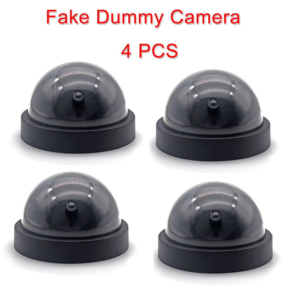 LINTIANCHENG 4pcs Dummy Camera Dome outdoor With LED Light imitation security Fake ip Camera CCTV street surveillance dummy cam in Surveillance Cameras from Security Protection