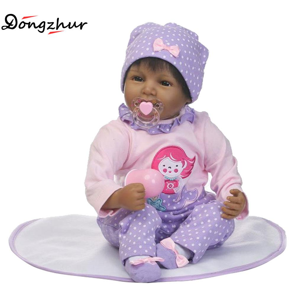 Dongzhur Solid Silicone Reborn Babies Doll Silicone Npkdoll Baby Photography Clothing Props Nanny Training Dolls Christmas Gift цена
