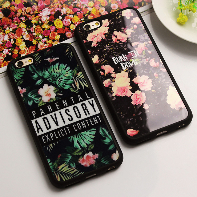 Luxury Fashion Mirror Case For iphone 7 7 Plus 6 6s Plus Flower Soft Silicone Funda Cover For iPhone 6s 6 Plus SE 5 5s Fundas