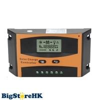 30A Solar Charge Controller 12V 24V With LCD Solar Panel Battery Regulator for Max PV Input 55V Adjustable Parameter