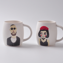 Lustig zeichentrickfiguren Gesicht keramik-becher kreative Männer und Frauen keramiktasse