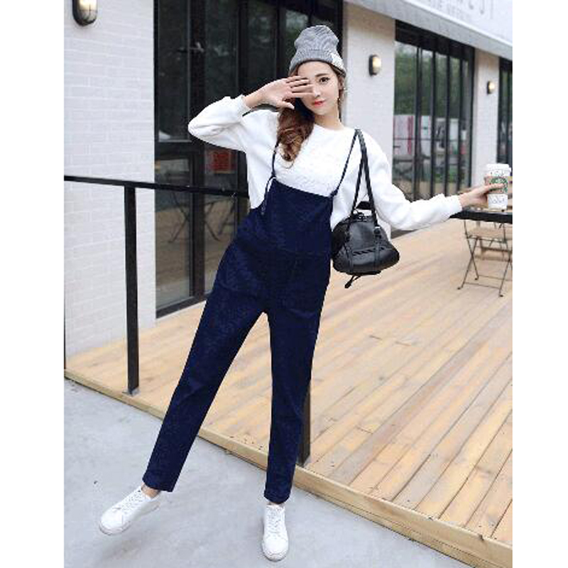 New Fashion Spring Autumn Denim Jumpsuits All Match Korean -5021