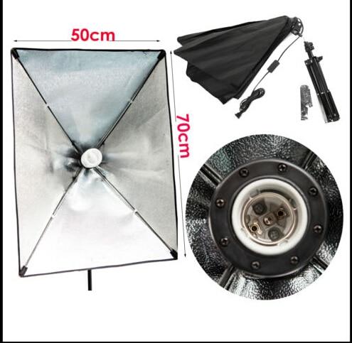 Ensemble de support de lumière de toile de fond de Kit d'éclairage de parapluie de Softbox continu de Studio 540 W-in Accessoires pour studio photo from Electronique    3