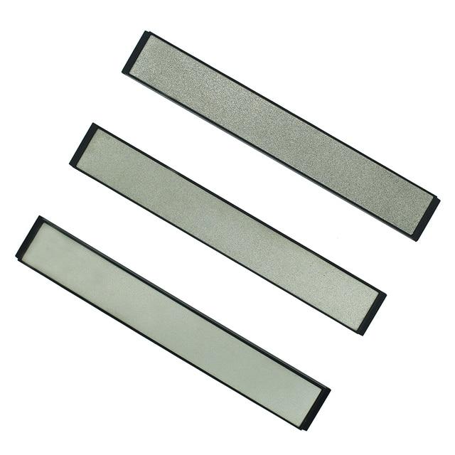 Professional Fixed Angle Diamond Kitchen Knife Sharpener Stones Whetstone 240 600 1000 3