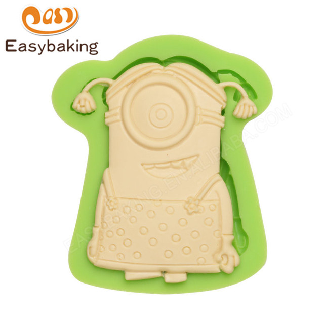 Mini Female Minion Silicone Candy Mold Kids Children Birthday Party
