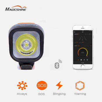Фонарь для велосипеда Magicshine, передние фонарики Bluetooth для велосипеда, светодиодный фонарик для велоспорта, зарядка через USB, 18650, Аксессуары д...