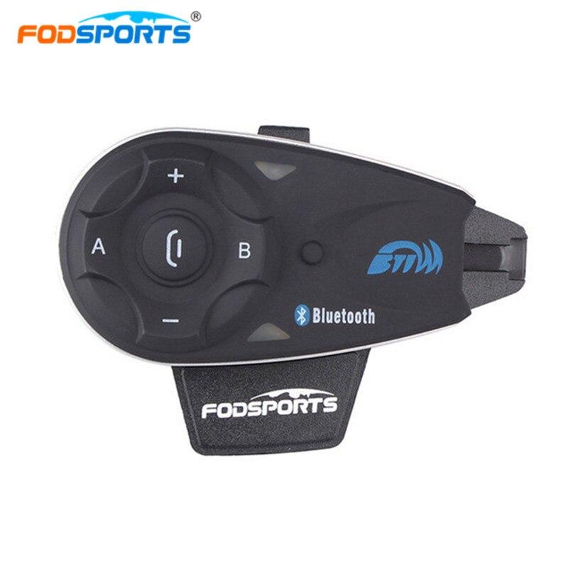 Fodsports 5 водителей мотоциклов Bluetooth шлем домофон 1200 максимальный диапазон intercomunicadores пункт cascos де мотос домофон мото