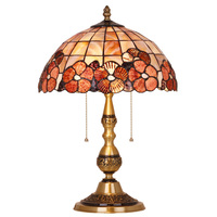European crystal lamp Tiffany Lamp study Bedroom princess Vintage table lamp Luxury villa decoration Desk lamp bedside Lights