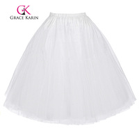 GK Women S Retro Vintage Dress Crinoline Petticoat Underskirt 3 Layers Jupon Short Black White Red