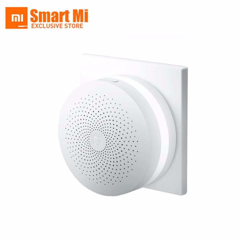 100% New Original Xiaomi Mijia Intelligent Web Wifi Radio and Ringbell Smart Gateway Smart Home Automatic for Mi Home Kits 1pcs