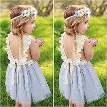 Little Girls Dresses for Party and Wedding Summer 2019 Toddler Kids Tutu Childrens Princess Dress