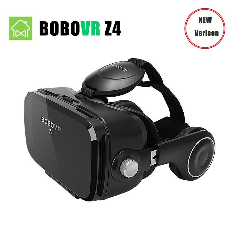 (Корабль из ru) bobovr Z4 мини виртуальной реальности 3D очки картон 120 градусов угол обзора VR коробка гарнитура 3D с Bluetooth Remote
