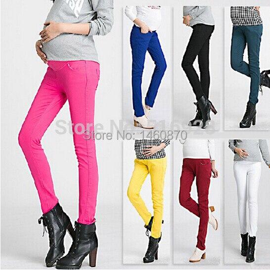 43c302aa9 Elástico de alta cintura pantalones de maternidad Para las mujeres  embarazadas 2017 ropa Otoño Invierno Leggings
