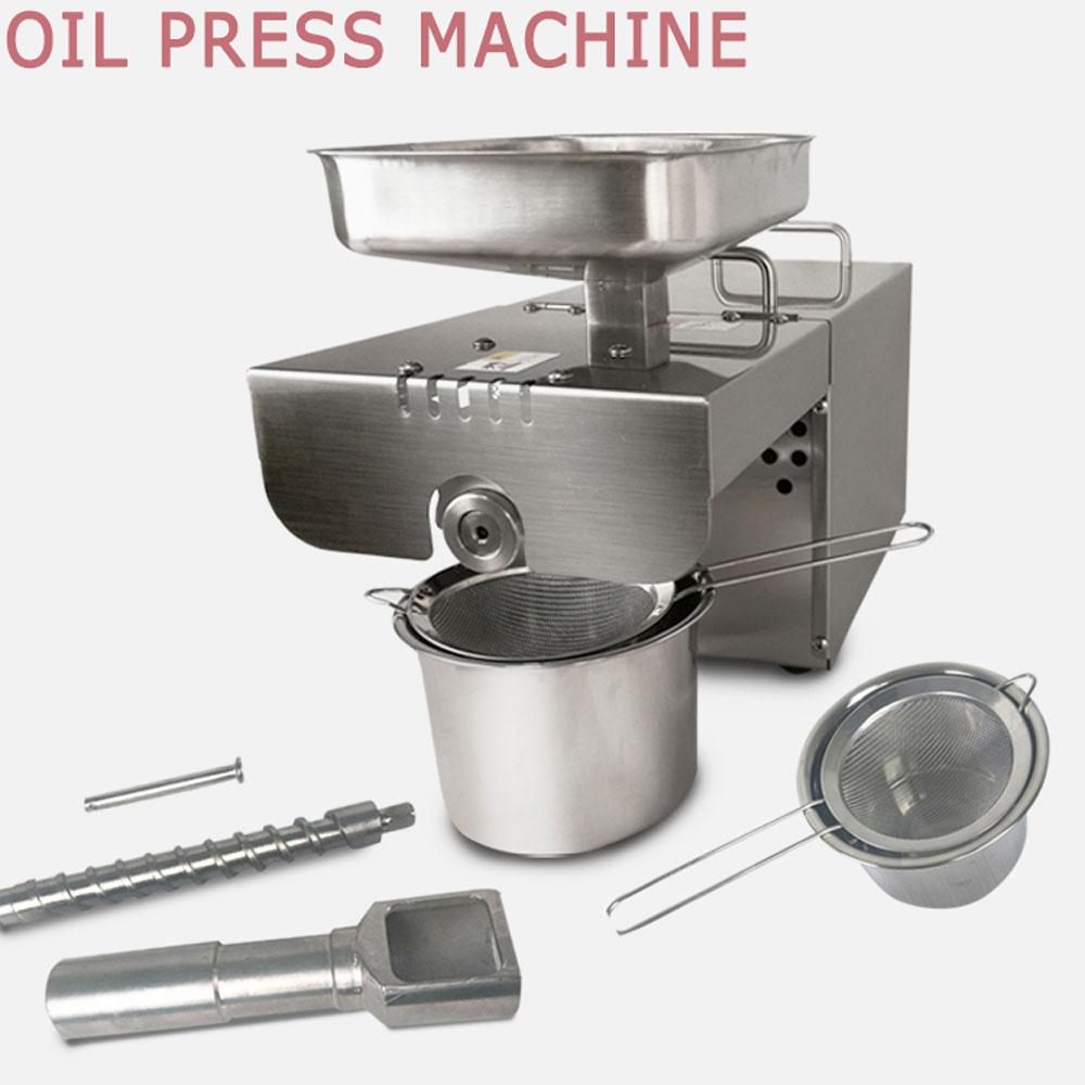 304 stainless steel food machine peanut sunflower seed oil for Food bar press machine