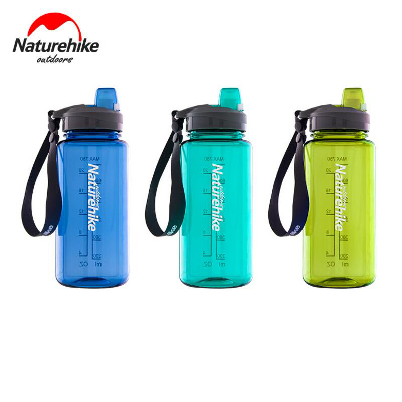 Naturehike Outdoor Camping Kettle Water Bottle Sport Hiking Travel Riding Portable Ultralight Water Bag Cup NH17S010-B