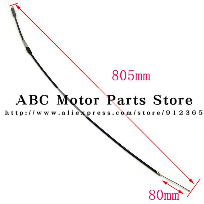 80CM Universal Motorcycle ATV Thumb Throttle Cable For 4 Stroke Quard ATV Bike 110-150cc