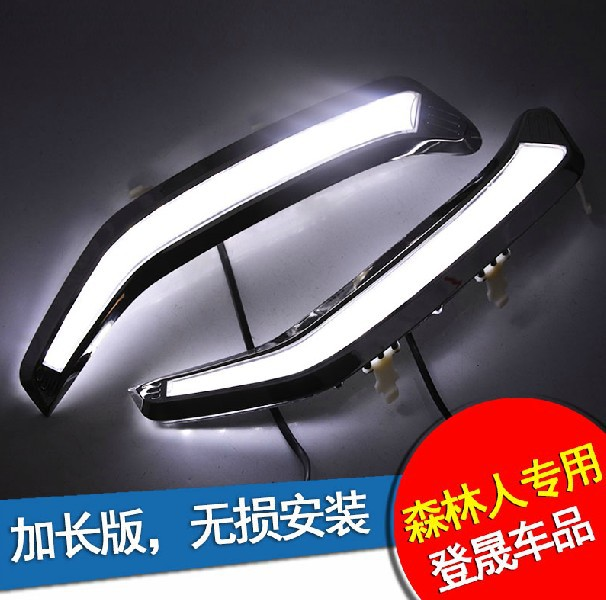 2013 SUBARU forester led drl daytime running light fog lamp exalted version with dimmer function, guiding light, chrome plating subaru traviq главный тормозной
