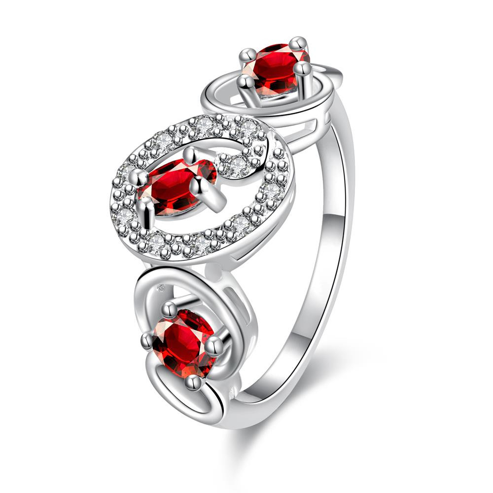 Trio-Ruby Red Circular Design Petite Ring Size 8 коляска 2 в 1 chicco trio stylego red passion