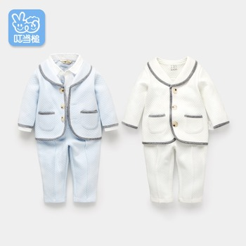 Autumn new born baby boy clothes set cotton Tee and Pant 2-Piece birthday dress clothing set 100% Organic Cotton 0-4 Years 1