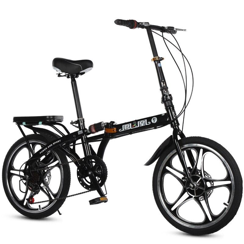 16/20 pouces vélo pliant haute qualité pliant hommes et femmes vélo avant et arrière freins à disque 7 vitesse variable vélo