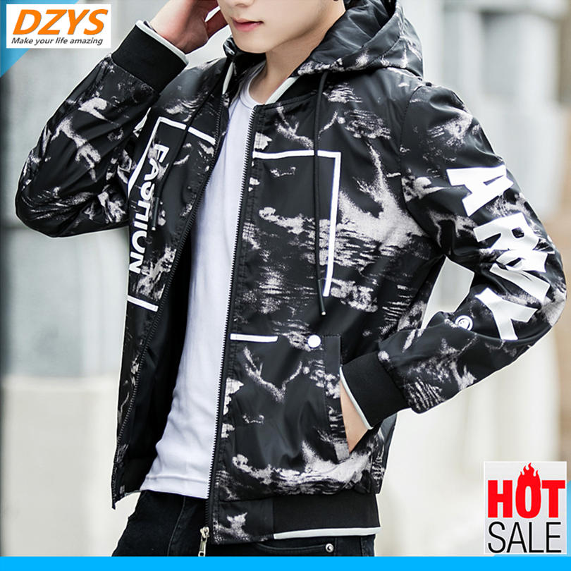 DZYS Men's coat Spring and autumn wear 2018 new male YH jacket ins plus velvet thick trend student clothes