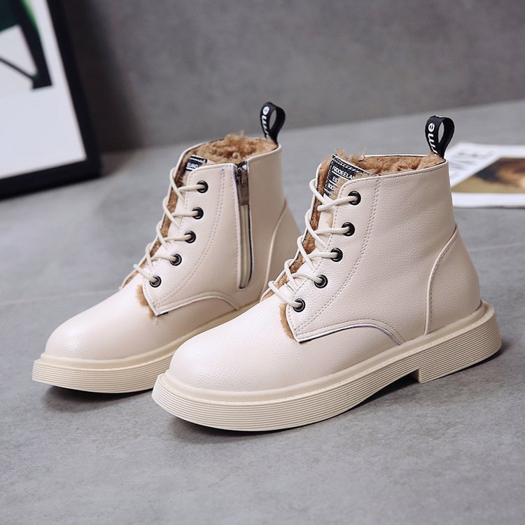 New Genuine Leather women boots winter whit fur Waterproof shock absorption warm breathable wear-resistant non-slip women shoes (21)