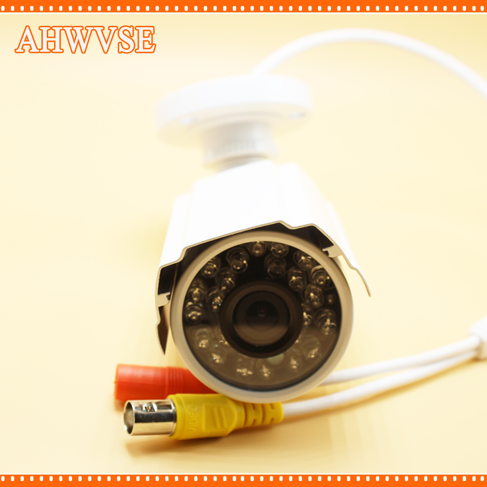 AHWVSE Free Shipping Waterproof AHD 1080P Bullet Camera HD 2MP CCTV Outdoor Security 24 IR Night Vision BNC Cable