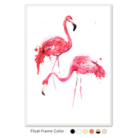 Morden Canvas Print Pink Flamingos Illustration Picture For Girls Room Decoration Wall Art