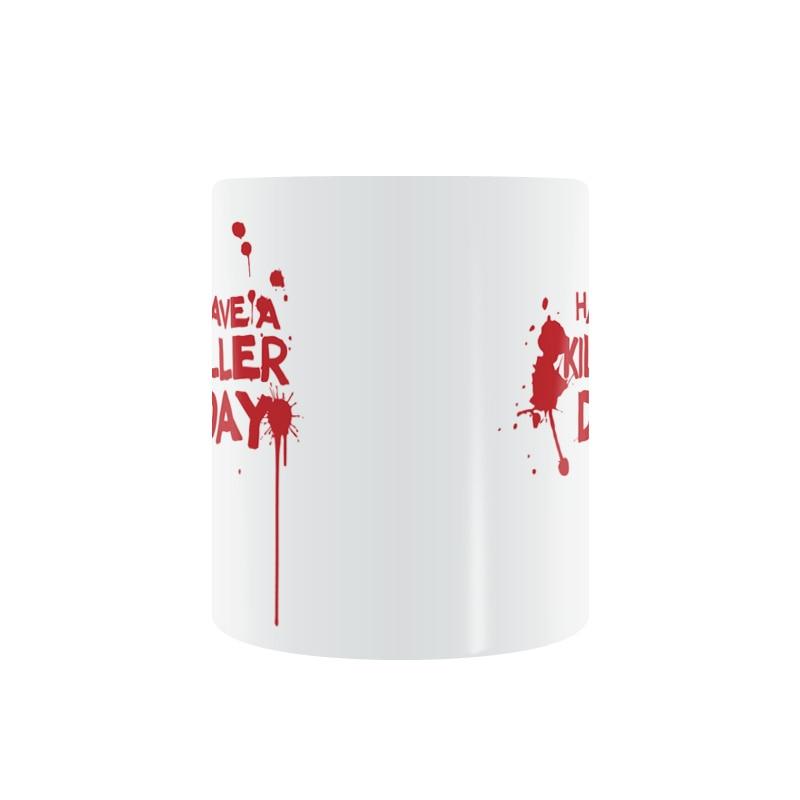 DEXTER Have A Killer Day Mug Coffee Milk Ceramic Cup Creative Home Decor Mugs...