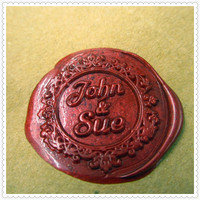 Customize Logo Name Box Set Personalized Initial Letter Sealing Wax Wedding Wax Seal Stamp Design Your