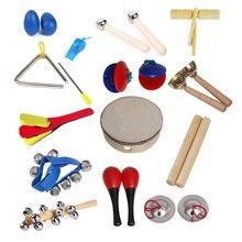 Дошкольного игрушка Инструменты Наборы дети ударные 14 Музыкальные инструменты