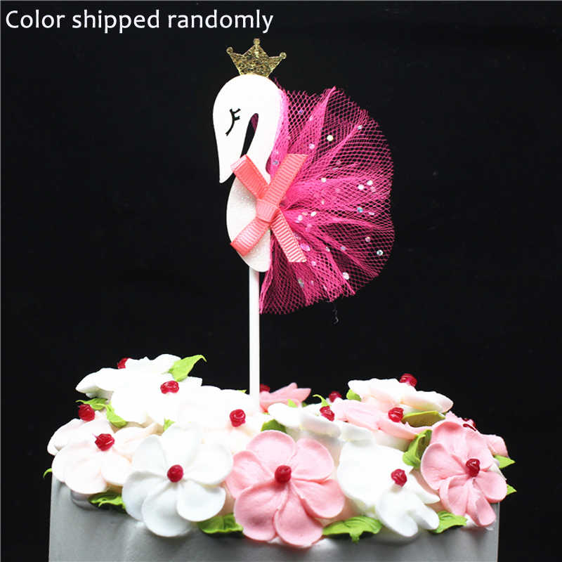 Groovy Swan Birthday Cake Decoration Flag Baking Diy Cup Cake Dotted Baby Personalised Birthday Cards Arneslily Jamesorg