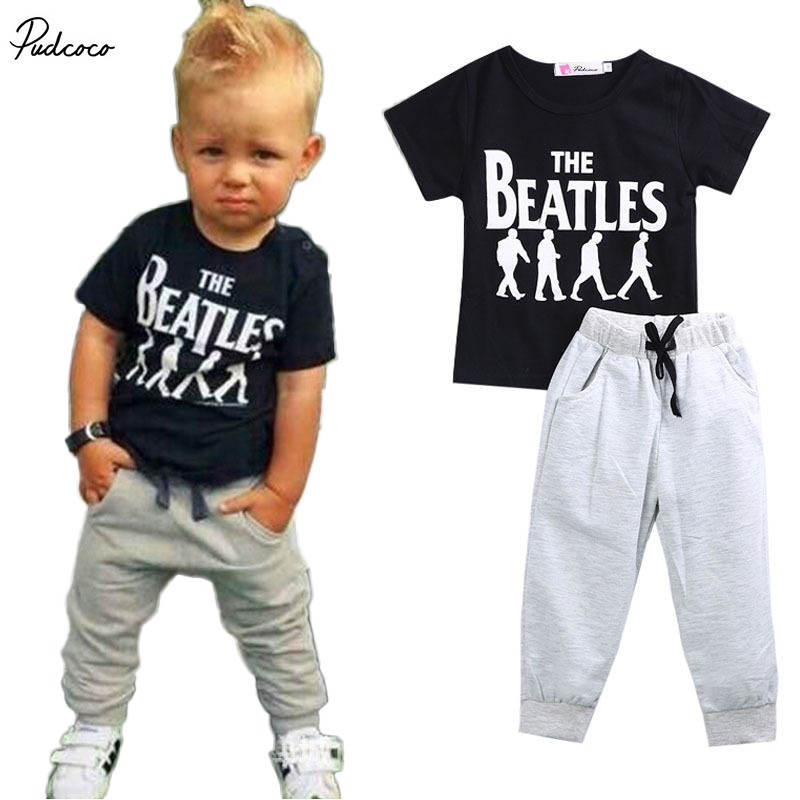 Summer kids clothes sets boy t-shirt+pants suit clothing set Clothes newborn sport suits baby boy clothes children boys clothes summer baby boy clothes set cotton short sleeved mickey t shirt striped pants 2pcs newborn baby girl clothing set sport suits
