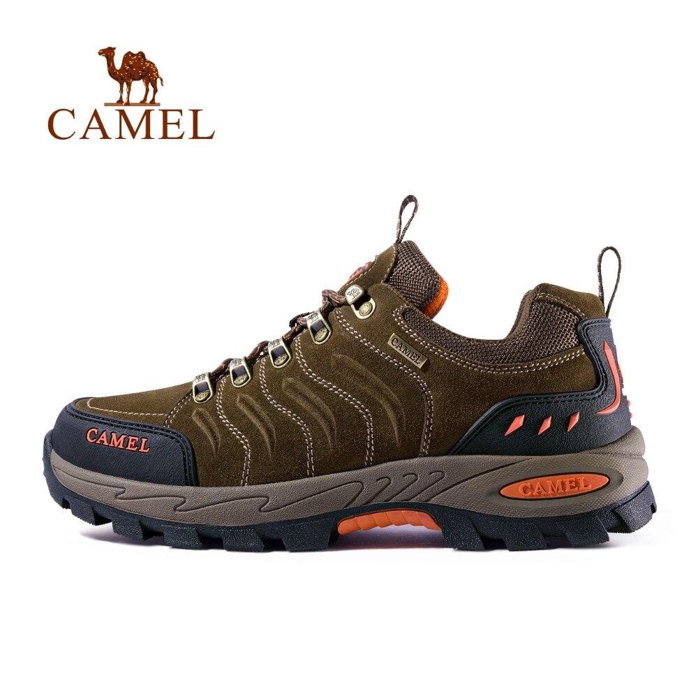 CHAMEAU homme femme chaussures de randonnée En Cuir Véritable Durable Anti-Slip Chaud Respirant de Montagne En Plein Air Escalade chaussures de randonnée