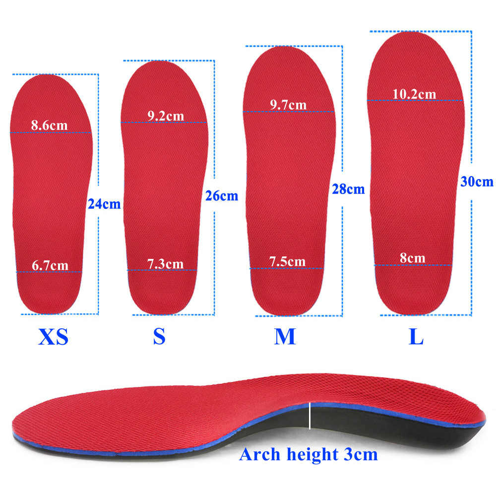 KOTLIKOFF Orthopedic Insoles Doctors recommend Best Material Orthotic Insole Flat Feet Arch Support Orthopedic Shoes Sole Pad