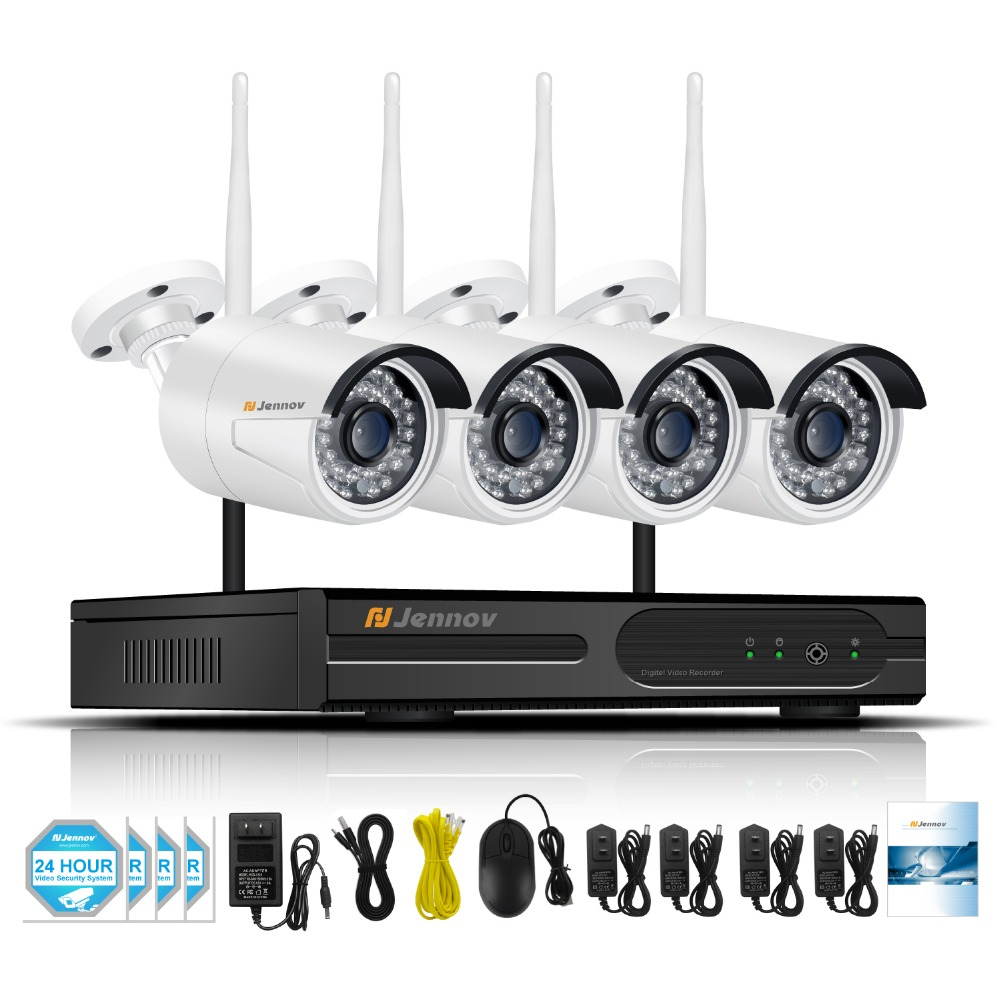 1080P 2MP Home Wireless Security CCTV IP Camera System With NVR Wifi Video Outdoor Surveillance Kits Wi-fi camera With 4CH NVR